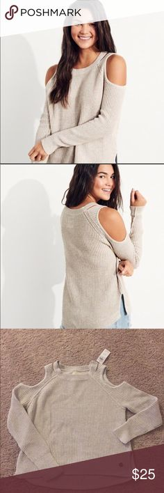 Hollister cold shoulder sweater Hollister cold shoulder sweater Hollister Sweaters