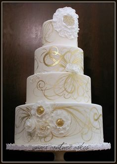 I have seen so many pretty wedding cakes over the past few months, I just had to share what we are swooning over here at the Awesometastic Offices!