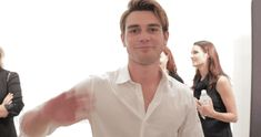 New party member! Tags: hello hi wave waving riverdale archie paley center archie andrews kj apa
