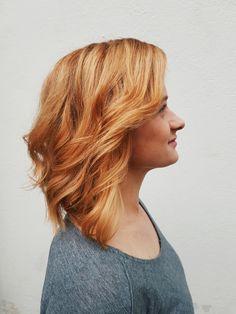 Copper-coloured blonde hair by Susanna Poméll / healthyhair.fi