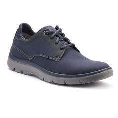These men's Tunsil sneakers offer dress casual style with superior comfort. Clarks Cloudsteppers are incredibly light, effortlessly flexible, and supremely soft. Best Sneakers, Running Shoes For Men, Clarks, Casual Shoes, Dark Blue, Oxford Shoes, Dress Shoes, Lace Up, Boots