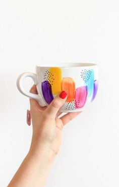 Lovely design on this! but also good blog post - How-To: Dishwasher Safe Decorated Mugs