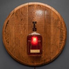 Barrel Head Sconce With Bottle $149.95