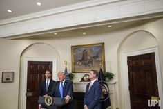 President Donald Trump makes an announcement on the introduction of the Reforming American Immigration for a Strong Economy (RAISE) Act…