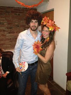 Homemade Bob Ross and His Happy Little Tree Halloween Costume ...