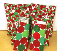 Gift Bag Set 6 Favor Bags Abstract holiday Snap by SoraCreations, $12.75
