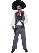 Authentic Western Mexican Bandit Adult Mens Smiffys Fancy Dress Costume