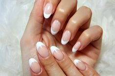 déco ongle gel amande manucure french #nail #decoration