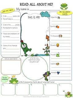 4 Worksheet Printables Beginning All themes Frogs All About Me Worksheet Dollar Deals √ Worksheet Printables Beginning All themes . 4 Worksheet Printables Beginning All themes. June Build the Sentence Frog Theme Classroom, Classroom Decor Themes, School Classroom, School Fun, Classroom Organization, Classroom Setup, School Ideas, All About Me Printable, All About Me Worksheet