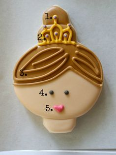 Princess Face Cookies