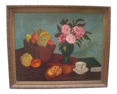 Painting Frames, Painting On Wood, Vintage Decor, Vintage Art, Pink Hydrangea, Hydrangeas, Still Life Oil Painting, Cup And Saucer, Display