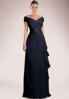 Imposing Off-the-shoulder Mother of Bride Dress Accented with Beaded Motifs and . - Imposing Off-the-shoulder Mother of Bride Dress Accented with Beaded Motifs and Feminine Ruffles Source by - Mother Of The Bride Dresses Long, Mother Of Bride Outfits, Mothers Dresses, Mob Dresses, Fashion Dresses, Bridesmaid Dresses, Formal Dresses, Wedding Dresses, Wedding Attire