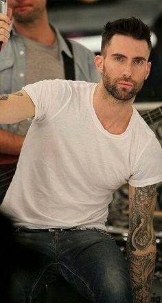 Adam Levine looking at me.