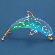 Paradise Dolphin Glass Figurine $38.75