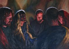 Rob Floyd Fine Art - Stations of the Resurrection, 13. Mary and the Disciples Wait in Prayer