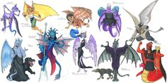 Disney Villain Gargoyles (I'm quite impressed by how much thought they put into the designs!)