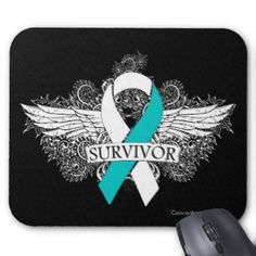 Images of Cervical Cancer Ribbon | Cancer Survivor Tattoo Mouse Pads, Cancer Survivor Tattoo Mouse pad ...