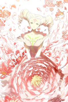 This is a nice pic of The Flower Clow Card from the Card Captor Sakura anime and manga series by CLAMP. Sakura Anime, Manga Anime, Art Anime, Anime Artwork, Manga Art, Cardcaptor Sakura, Syaoran, Magical Girl, Sakura Card Captors