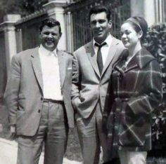(l-r) Johnny Squibb (very good friend of the Krays, particularly Reg), Reggie Kray and Frances Kray in Nov 1964 in Southern Spain. The Krays, Mafia Gangster, East End London, All I Ever Wanted, Twin Brothers, Tom Hardy, Rare Photos, Gangsters, Crime