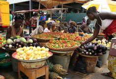 street market in Bo, Sierra Leone