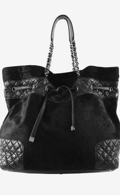 1282ec76c963 Chanel Chanel Black Pony Hair Tote Tote | VAUNTE Chanel Black, Chanel  Chanel, Pony