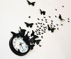 """DIY """"time flies"""" butterfly clock"""