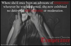 Temperance by Ella Frank (The Arcanian Chronicles, book 1) graphic made by Ashley