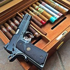 Cigars And Whiskey, Pipes And Cigars, Whisky, Indoor Shooting Range, Striker Fired, Cigar Art, Tactical Life, Man Cave Diy, Lethal Weapon