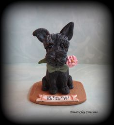 I Do Too!  Wedding Cake Topper by Trina's Clay Creations