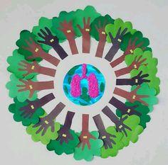 School Projects, Projects For Kids, Art Projects, Crafts For Kids, Arts And Crafts, Paper Crafts, Earth Day Activities, Indoor Activities For Kids, Preschool Art