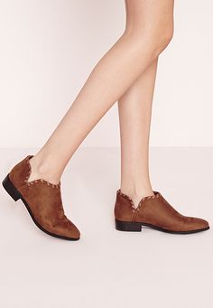 Missguided - flat woven detail ankle boots tan