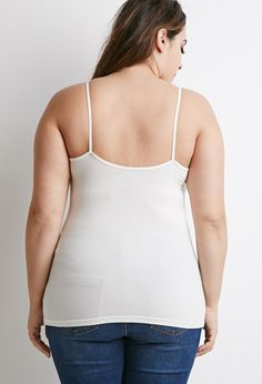 Plus Size Classic Knit Cami Cami, Basic Tank Top, Latest Trends, Forever 21, Plus Size, Tank Tops, Knitting, Tees, Classic