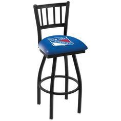 "New York Rangers 25"" Wrinkle Swivel Bar Stool with Jailhouse Style Back - $199.00"