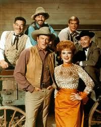 Gunsmoke. Good, family western entertainment for 20 years. James Arness was a big, rugged looking, tough guy - perfect for the role. His brother, Peter Graves, was the polar opposite.