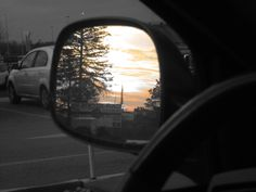 Rearview Sunset