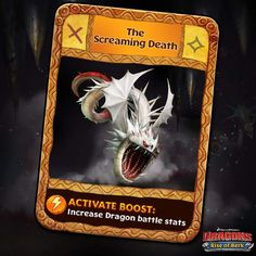 Dragons: Rise of Berk - The Screaming Death card