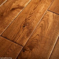 Engineered Hand Scraped Tobacco Oak Hardwood Flooring Real Wood Wooden Floor in Home, Furniture & DIY, DIY Materials, Flooring & Tiles Engineered Oak Flooring, Oak Hardwood Flooring, Hallway Flooring, Flooring Tiles, Pine Floors, Wood Floor Design, I Love Makeup, Wood Texture, Real Wood