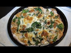 Cooking With Kade, Makes A Cajunized Shrimp and Spinach Alfredo Pizza Re...