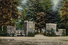 Entrance to Elm Park Worcester Massachusetts
