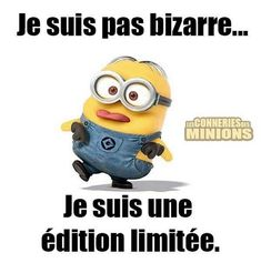 """I'm a limited edition – """"citations"""" des minions Funny Quotes For Instagram, Cute Funny Quotes, Funny Quotes For Teens, Funny Jokes, Hilarious, Minion Jokes, Minions Quotes, Jokes Quotes, Funny Couple Poses"""