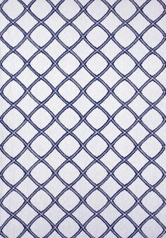 MAJULI EMBROIDERY, Navy on White, W788706, Collection Trade Routes from Thibaut
