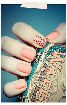 Classic Orange Nail Art