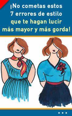 ¡No cometas estos 7 errores de estilo que te hagan lucir más mayor y más gorda! #ropa #estilo #gorda #delgada #lucir #errores #mujer