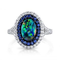 Omi Prive: Opal, Sapphire and Diamond Ring
