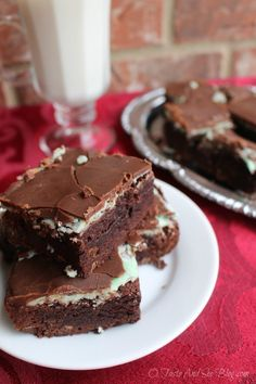 Chocolate Mint Brownies 28 Gooey Brownies That'll Change Your Life Forever
