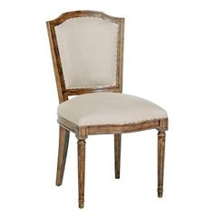 Colette Shield Back French Country Linen Brown Dining Chair- Set of 2