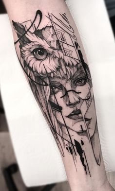 The 200 Best Owl Tattoos [Women and Men] Wolf Tattoos, Forarm Tattoos, Sexy Tattoos, Body Art Tattoos, Small Tattoos, Sleeve Tattoos, Tattoos For Guys, Tattos, Owl Tattoo Design