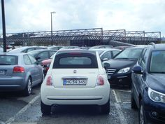 Another Fiat 500 we saw in Saint-Malo, France, only this one drove in from Denmark! (DK on the number plate)