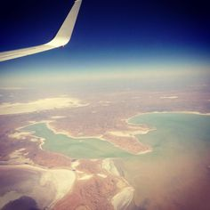 What a treat flying over Lake Eyre today rare to see it full at this time of year. Australia is such a magical place and I'm so lucky to see it from above everyday #outback #australia #virginaustralia #cabincrew #lakeyre #uluru #ayersrock by nedwaa www.fb.com/uluruaus