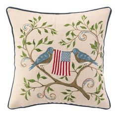 American Birds Pillow: Great for the 4th of July